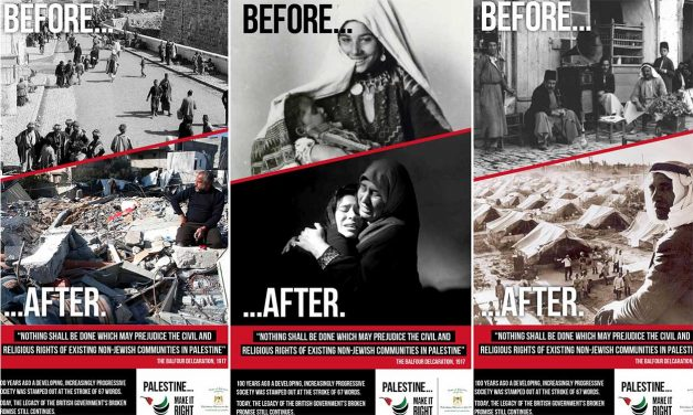 Transport for London REJECTS Palestinian anti-Balfour poster campaign