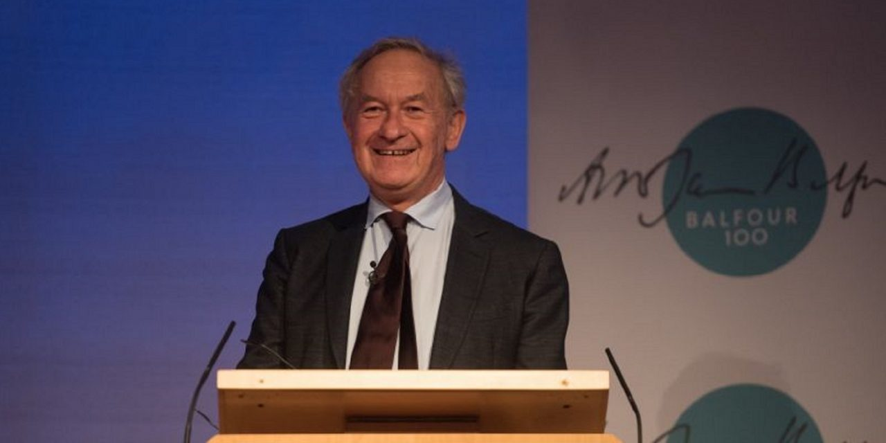 WATCH: The Full Balfour Centenary Lecture with historian Simon Schama