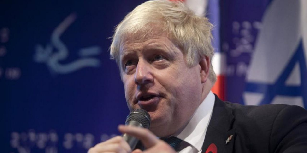 "Boris lauds ""miracle of Israel"" but refers to Balfour Declaration as ""unfulfilled"""