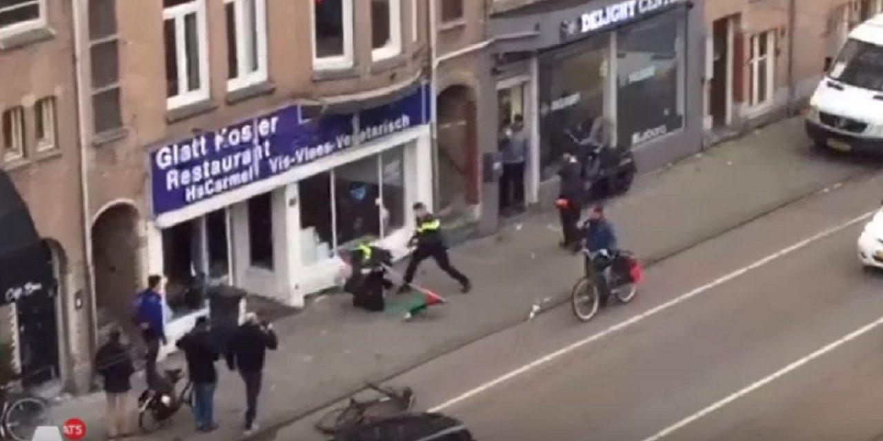 "BREAKING: Man shouting ""Allahu Akbar"" smashes windows of Amsterdam Jewish restaurant"