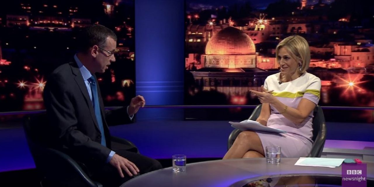 BBC Newsnight biased and aggressive towards Israel in Ambassador Regev interview