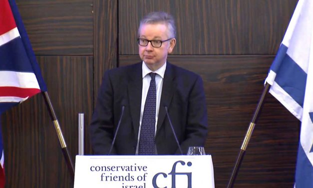"Michael Gove: Israel is a ""light to world"", anti-Israel movement ""fuelled by dark and furious energy"""
