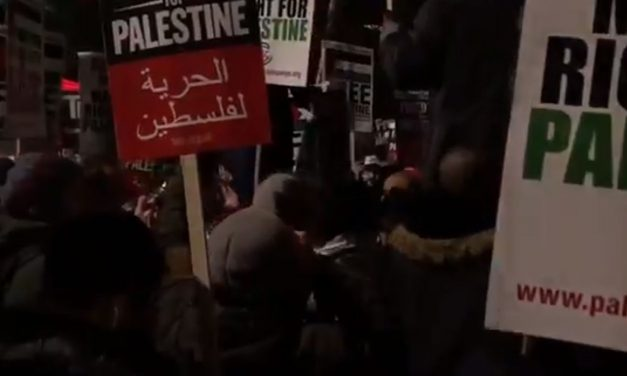 London: Protesters chant threats of death to Jews during protest outside US Embassy