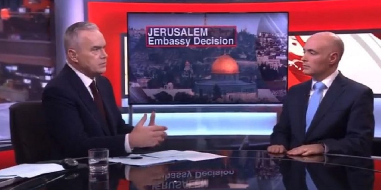 Israeli diplomat gives excellent response on BBC about Trump's embassy move