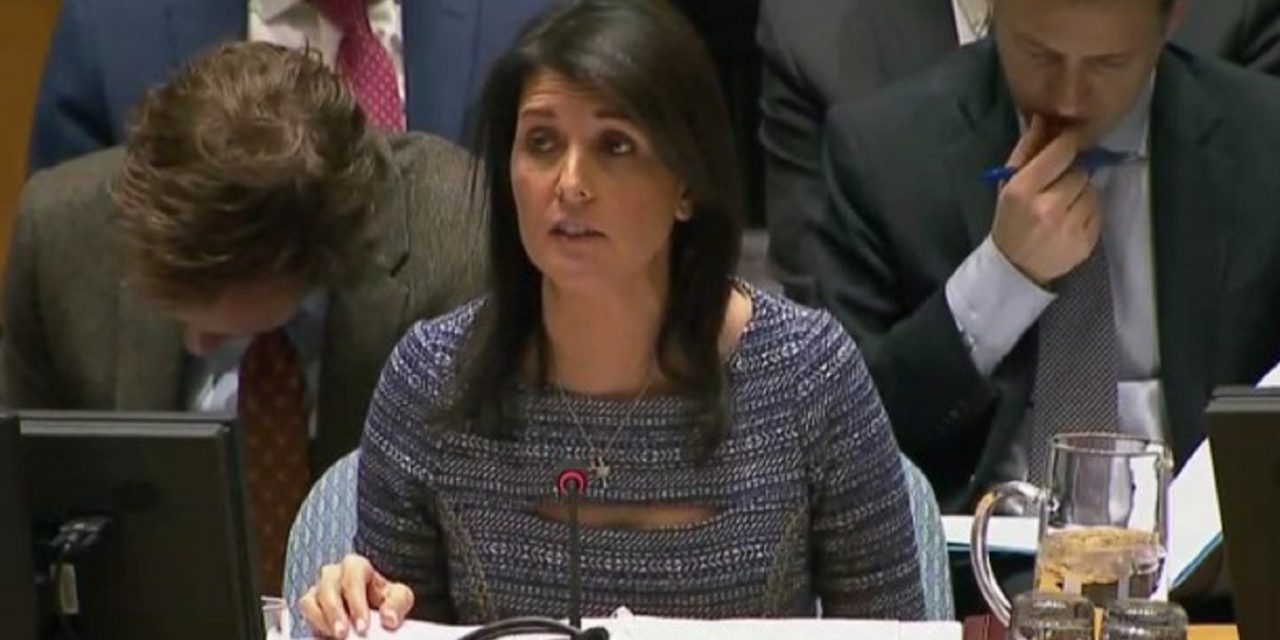 Ambassador Haley says Abbas is not ready to make peace