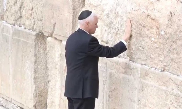 "Vice President Pence felt ""inspired"" praying at Western Wall"
