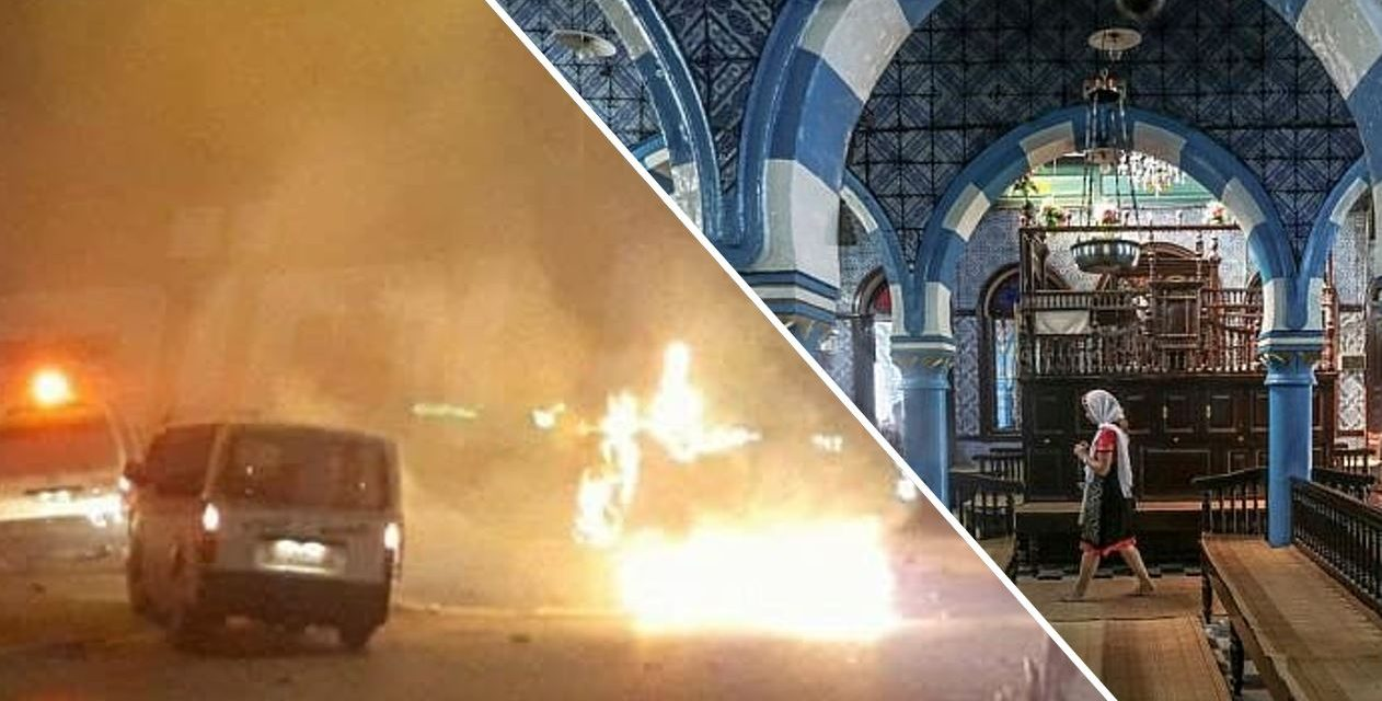 Synagogue and Jewish schools fire-bombed in Tunisia amid anti-government protests