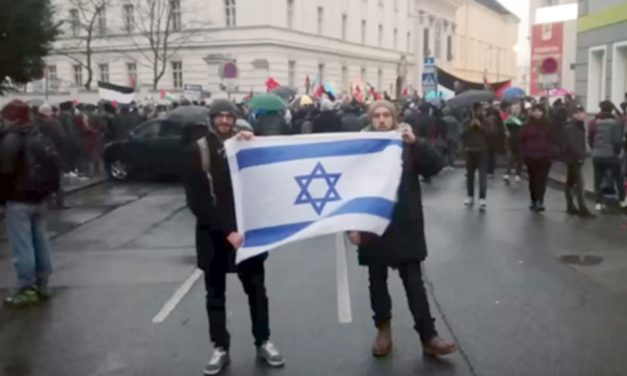 Vienna students fined for holding Israel flag near anti-Israel protest