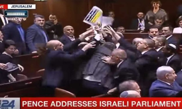 Watch: Arab MKs ejected from Knesset as they break rules protesting Pence