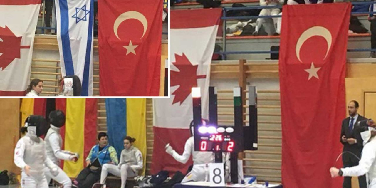 Israel flag removed, thrown on floor at Fencing tournament in Austria