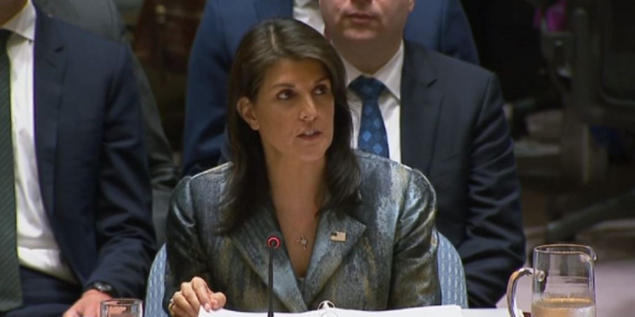 "WATCH: ""I will not shut up,"" Nikki Haley tells Palestinians at UN"
