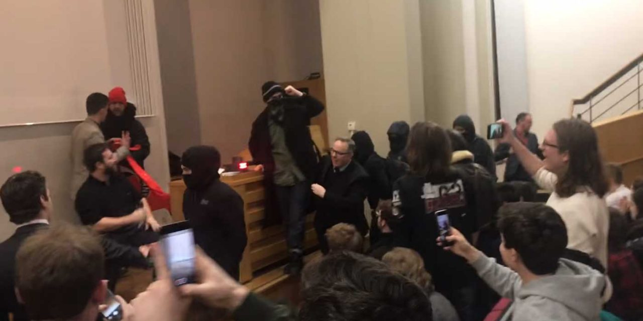 Guard hospitalised as masked protesters violently disrupt Israeli speaker at King's College