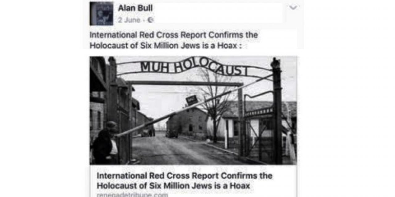 "Labour suspends council candidate who called Holocaust a ""hoax"""