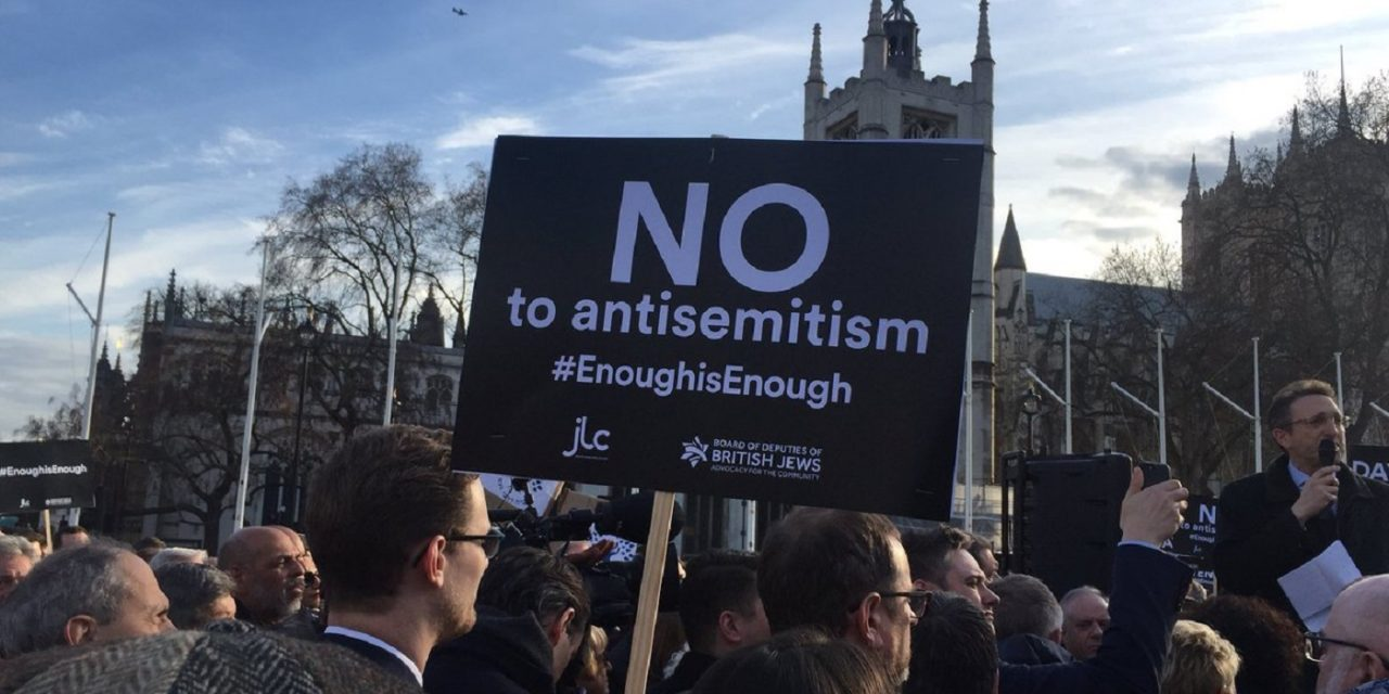 """LIVE: Speeches at the """"No to antisemitism"""" demo at Parliament Square"""