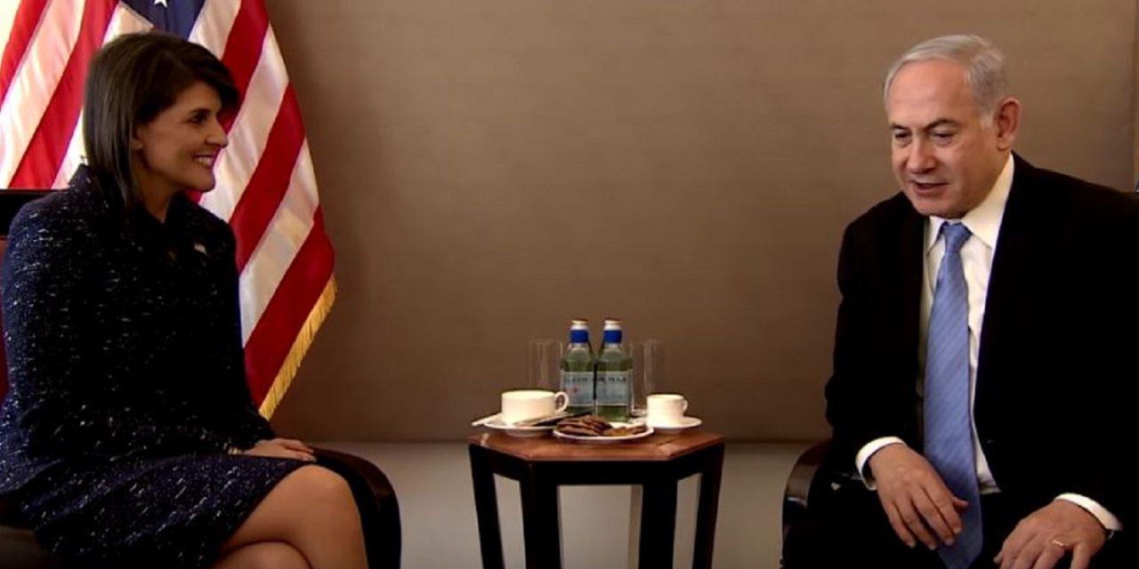 "Netanyahu talks with Haley: Defense of Israel at UN is ""tsunami of fresh air"""