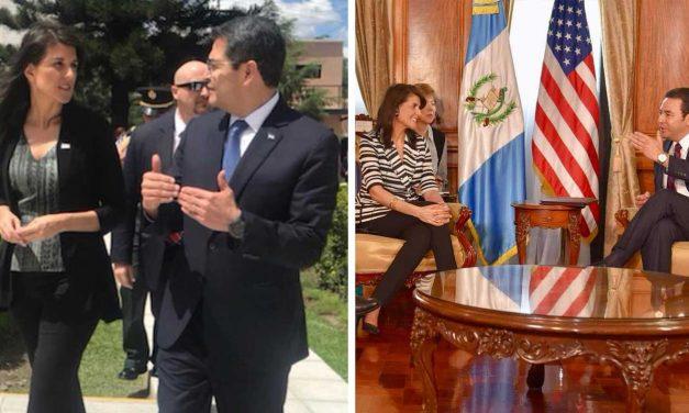 Ambassador Haley thanks Honduras and Guatemala for support of Jerusalem Embassy move
