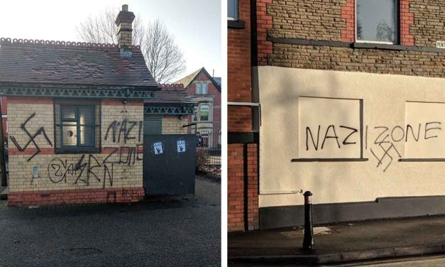 Swastikas and Nazi slogans daubed around Cardiff