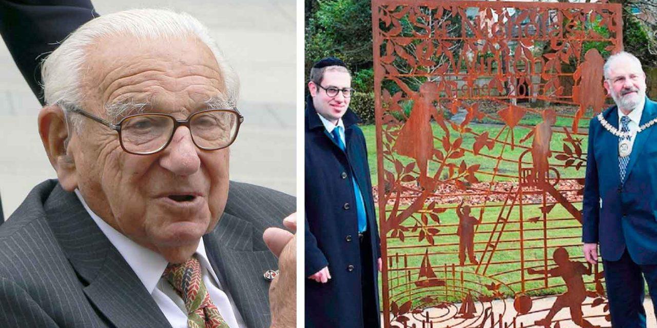 Memorial garden for Sir Nicholas Winton opened in Golders Green