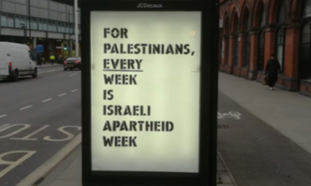 Unauthorised Apartheid Week propaganda appears in London, again