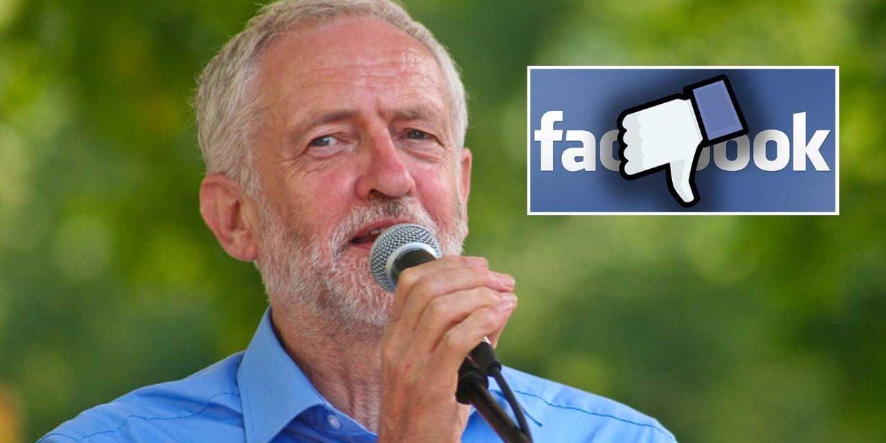 Corbyn deletes his personal Facebook account after being associated with antisemitic groups
