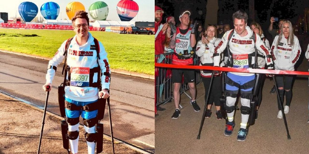Paralyzed man completes London Marathon with Israeli-made bionic suit