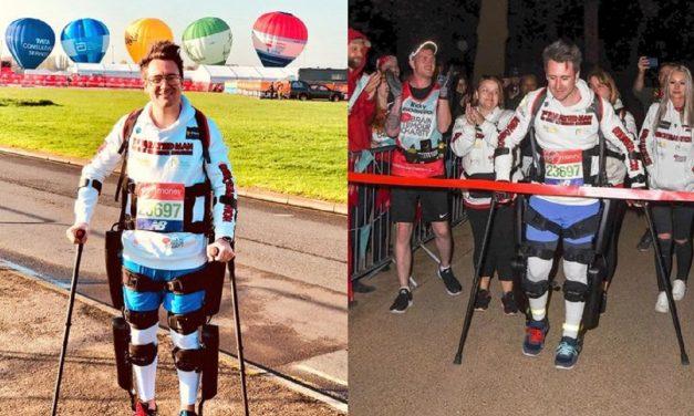 Paralyzed man completes London Marathon with Israeli-made bionic suit