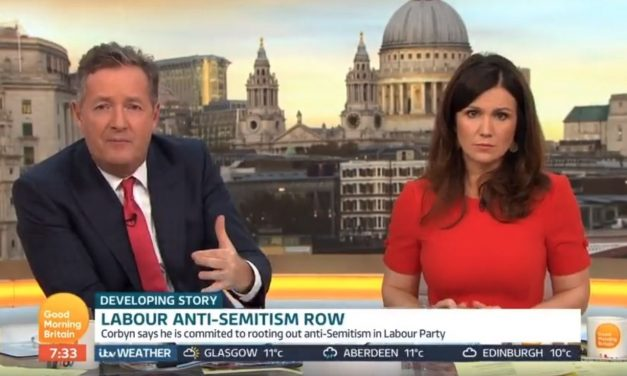 "Piers Morgan: ""Mr Corbyn, if Labour members use Nazi comparisons to Israel, EXPEL THEM"""