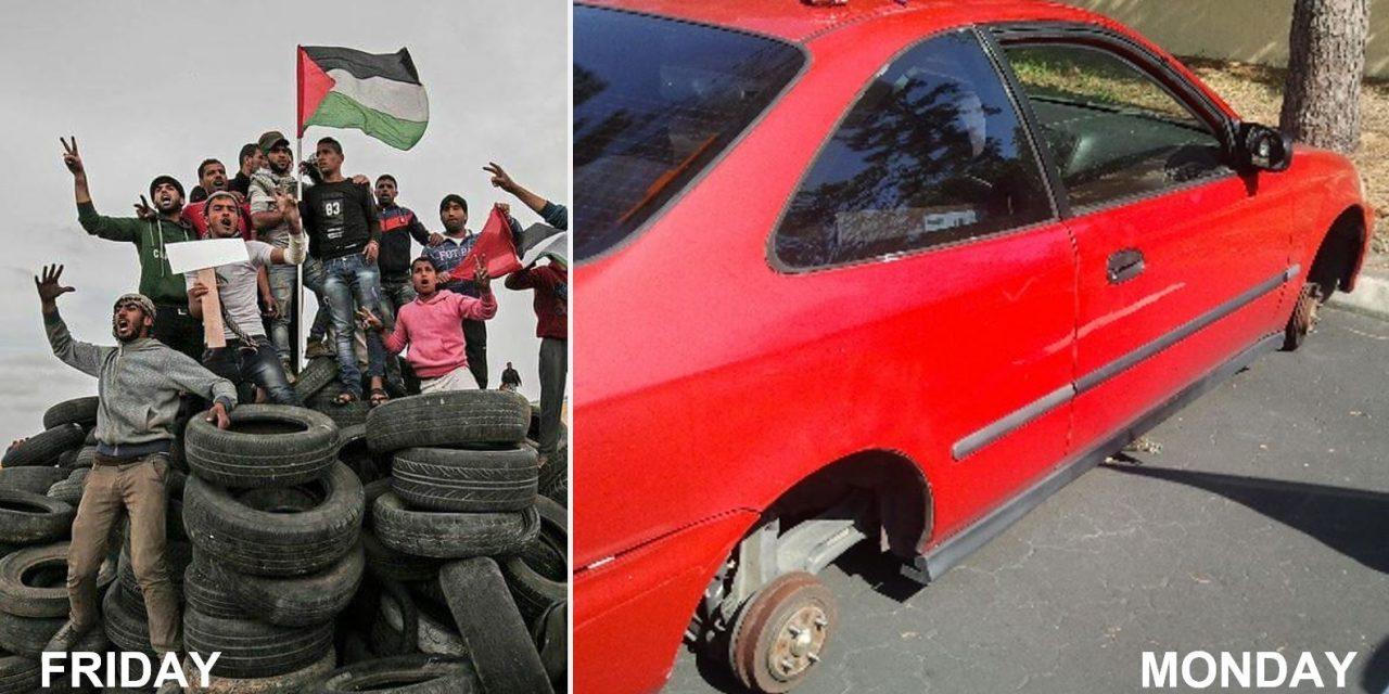 Gaza faces shortage of tyres…and blames Israel!