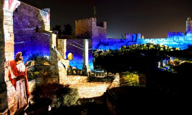Jerusalem's incredible new light show projects King David's story onto Old City walls