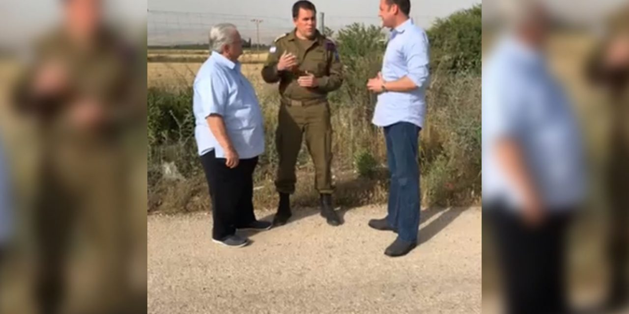 Pastor Hagee and IDF spokesman at Syrian border discuss attack by Iran
