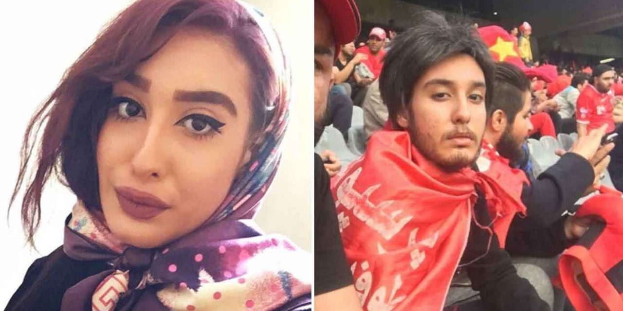 Iranian women disguise themselves in beards and wigs to sneak into men-only football game