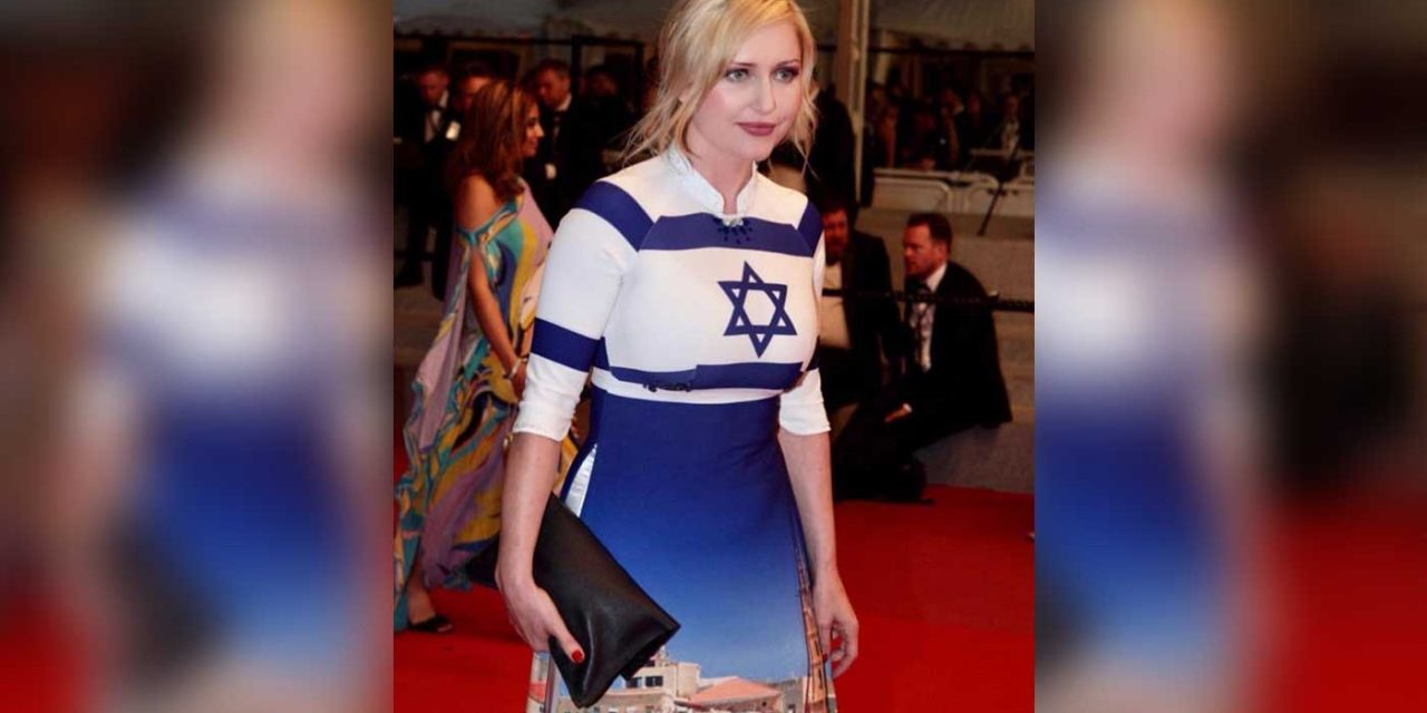 French-Polish actress wears Israel dress at Cannes film festival