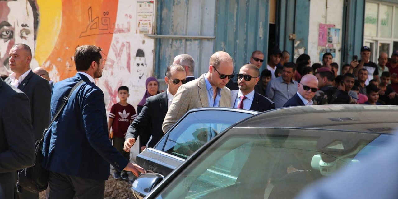 Prince William's convoy reportedly targeted by Palestinian children throwing stones