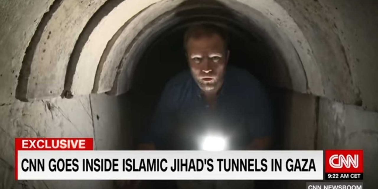Watch: Gaza based terrorists give CNN guided tour of terror tunnel, demonstrate military training