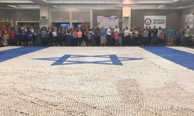 Israel flag cookie mosaic breaks Guinness World Record