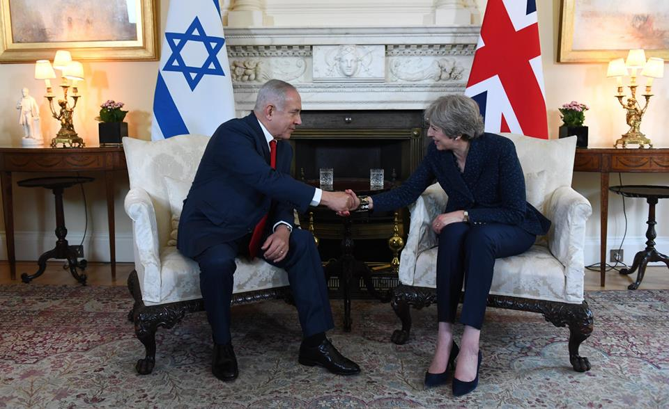 "May tells Netanyahu: ""UK remains committed to Iran deal"", expresses ""concern"" for killed Palestinians"