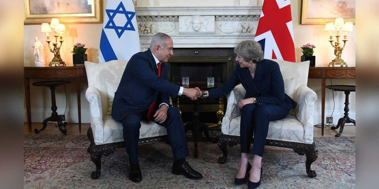 "Theresa May writes article praising ""old friend"" Israel and expresses pride in Balfour Declaration"