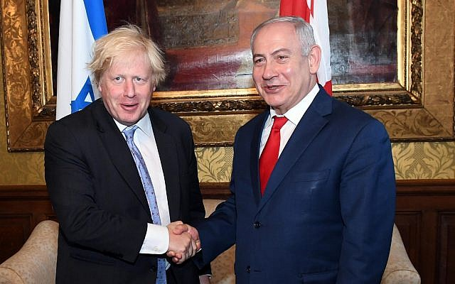 Boris meets Netanyahu, condemns Hamas rockets but urges Israel to open investigation into Gaza border deaths