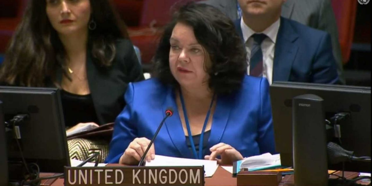 UK Ambassador CONDEMNS Hamas at UN Security Council