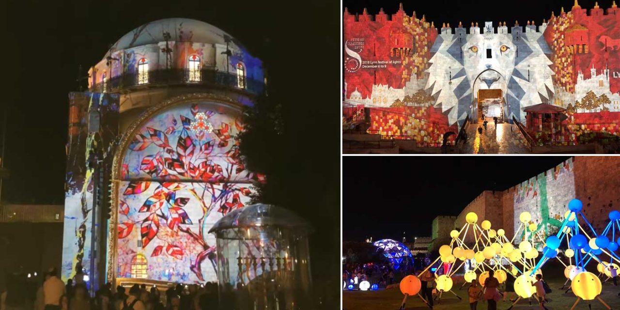 Watch: Jerusalem Light Festival illuminates the ancient city in magnificent displays