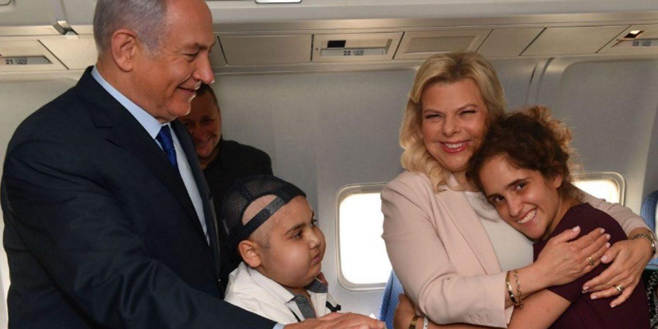 PM Netanyahu and Sara take kids fighting cancer to England's World Cup semi-final