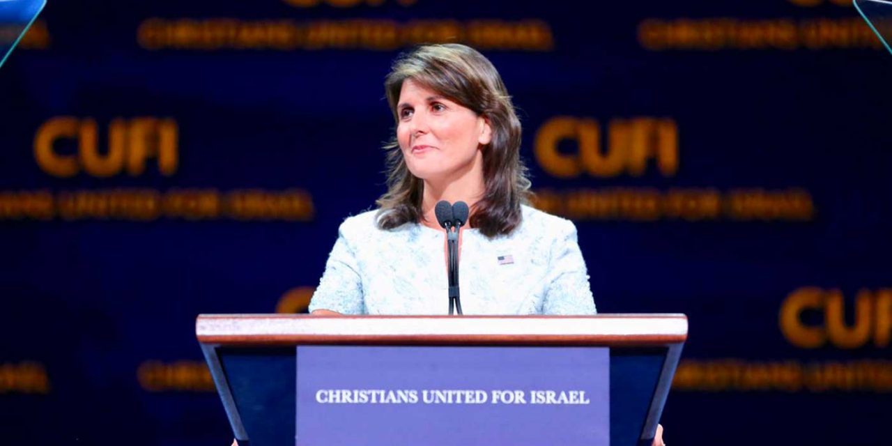 Nikki Haley says her Christian faith drives her to stand up for Israel at the UN