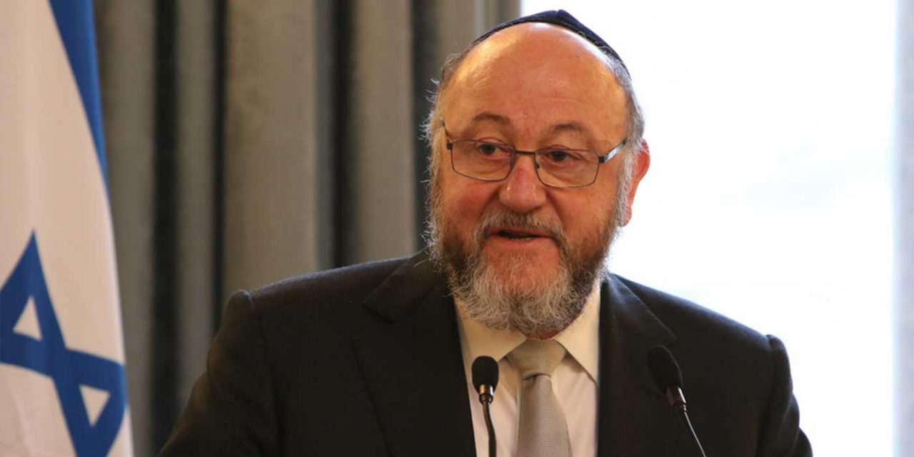 "UK Chief Rabbi says Labour sending ""unprecedented message of contempt"" to Jewish community"