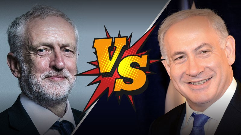 "Corbyn angry at Netanyahu over claims ""West Bank"" is Israel"