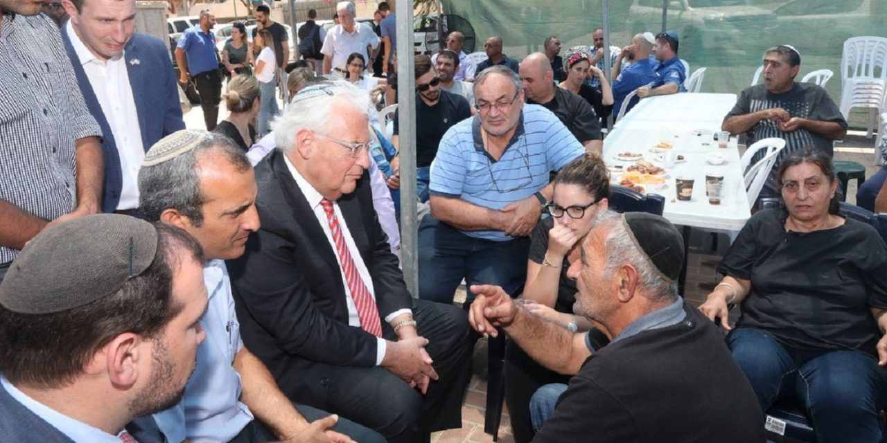 Palestinian Authority CONDEMNS Ambassador Friedman for visiting mourning Israeli family; fails to condemn terror attack
