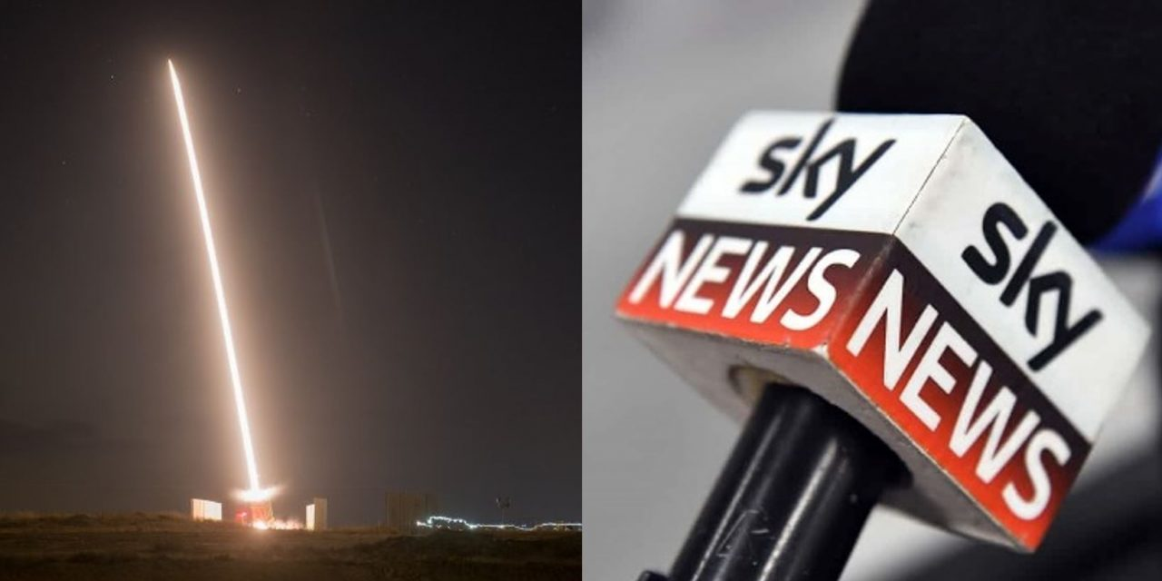SkyNews completely IGNORES large-scale rocket attack on Israel