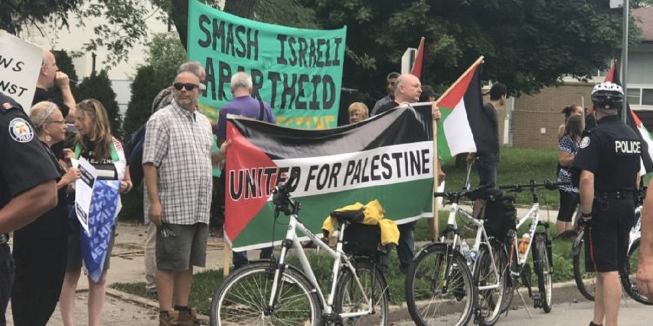 Anti-Israel rally held in heart of Toronto's Jewish community