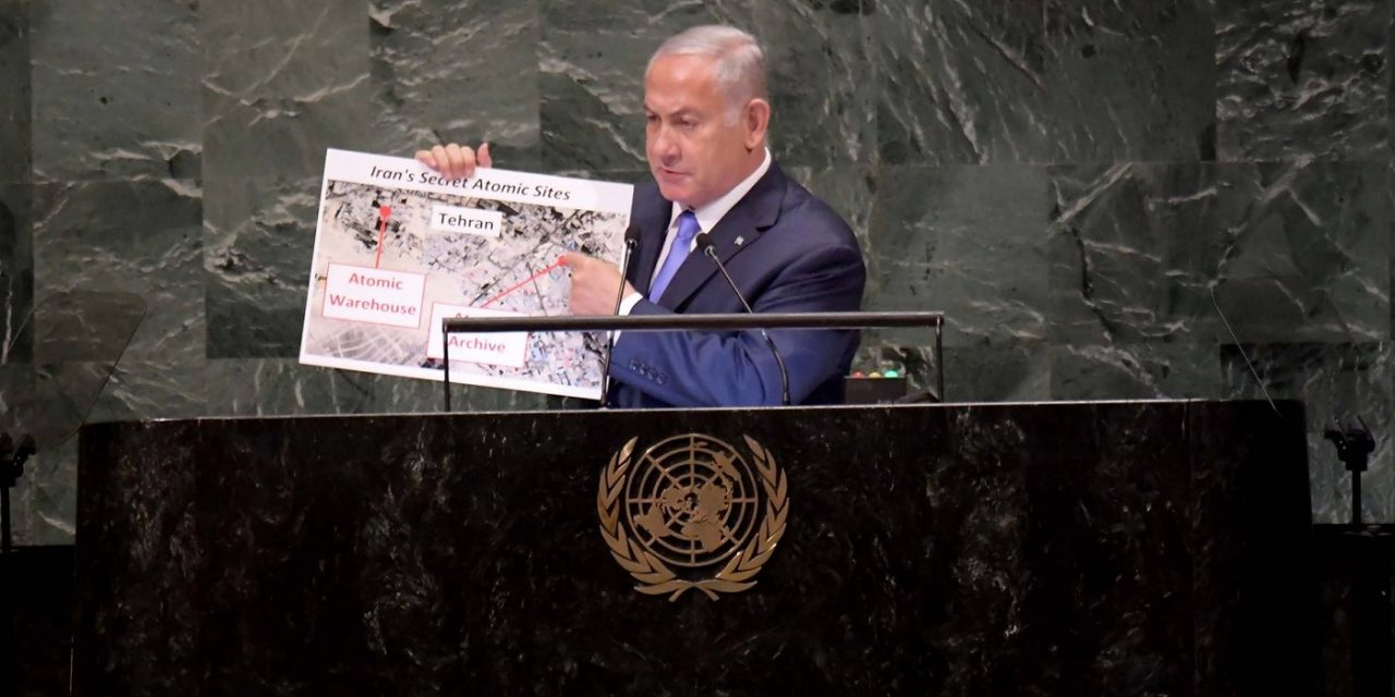 "Netanyahu at UN delivers new bombshell about secret Iranian ""atomic warehouse"""