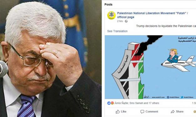 Fatah marks 9/11 with disgraceful cartoon of Trump crashing plane into tower