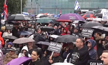 Thousands rally against anti-Semitism in Manchester